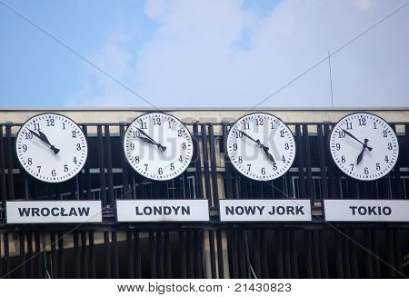 Four clocks