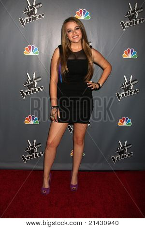 "LOS ANGELES - JUN 29:  Lily Elise arriving at the Wrap Party for The ""Voice"" at Avalon on June 29, 2011 in Los Angeles, CA"