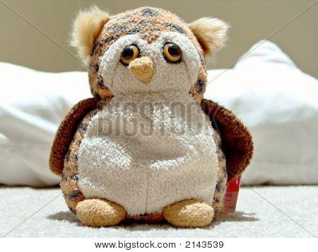 Wide Plush Owl