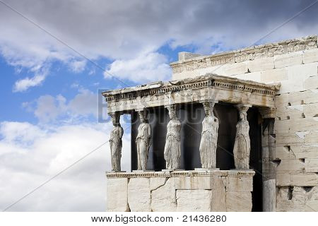 Caryatids At The Temple Of Erechtheum, Acropolis, Athens, Greece