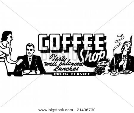 Coffee Shop 2 - Retro Ad Art Banner