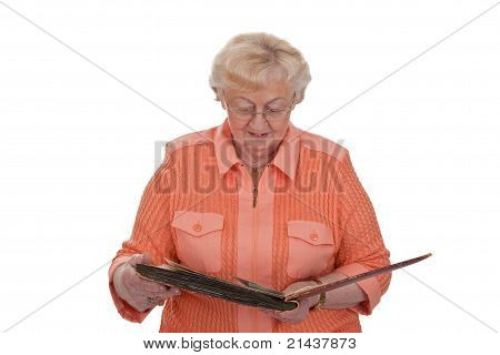 Senior Woman With Photo Album