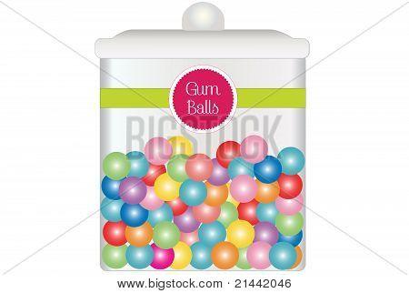Jar of Gum Ball Candy
