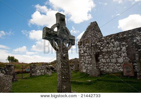 Kildalton church and cross