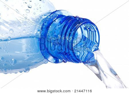 Water Pouring Down From Plastic Bottle