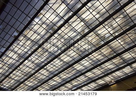 Skylight in a train station