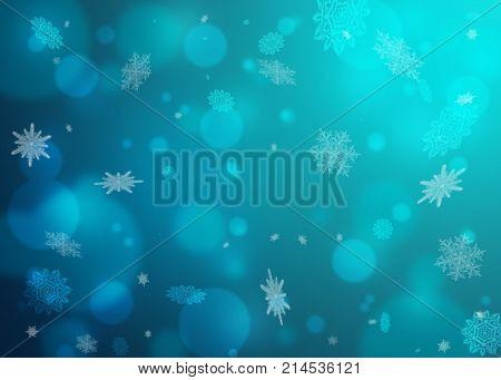 Beautiful blue winter
