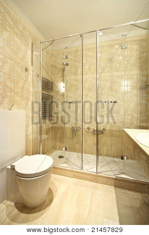 interior luxury apartment, comfortable bathroom
