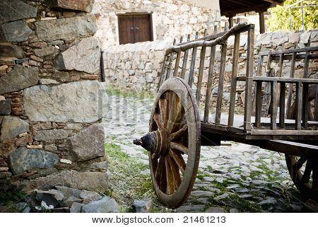 Old Wagon, Fikardou Village.