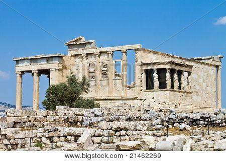Temple Of Erechtheum, Acropolis, Athens, Greece