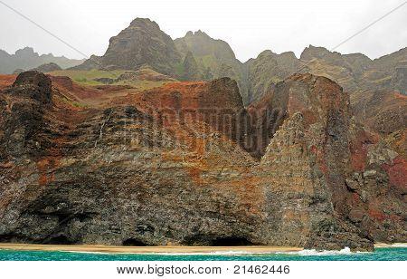 Coastal Cliffs In The Mist