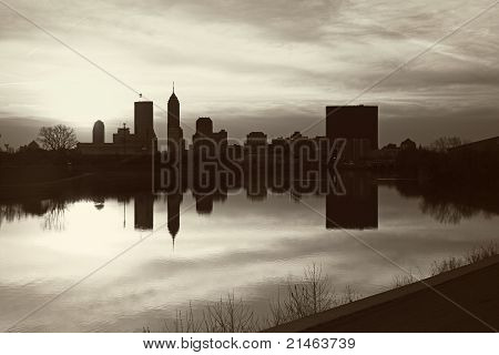 Black And White Panorama Of Indianapolis