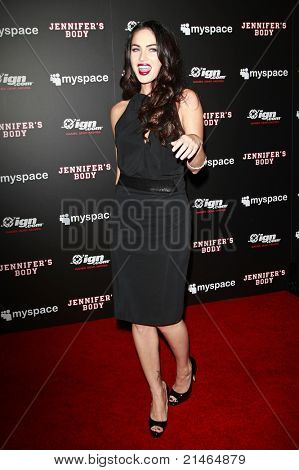 SAN DIEGO - JUL 23: Megan Fox at the MySpace/IGN Jennifer's Body Party during Comic-Con 2009 held at the Manchester Grand Hyatt Hotel in San Diego, California on July 23, 2009