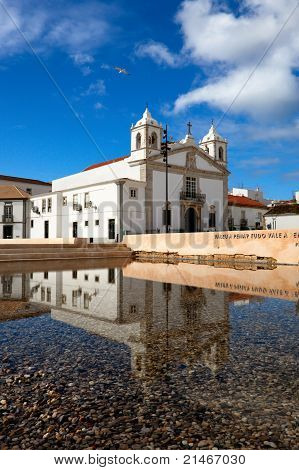 Church Of Santa Maria Reflected In The Water