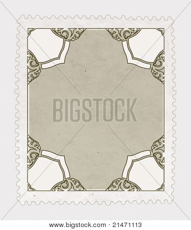 Vintage Stamp Isolated
