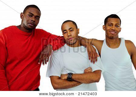 Close-up Of Men Posing