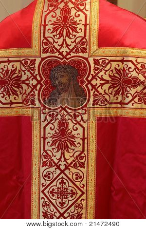 Golden embroidered Church vestments