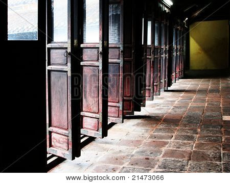 Doors in chinese temple