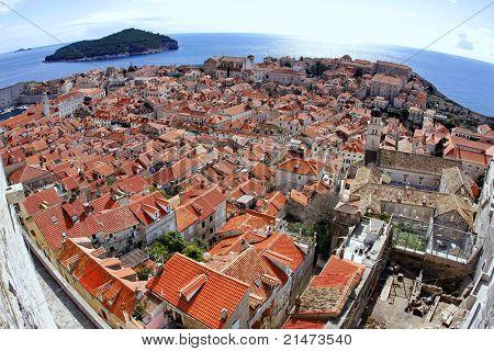 Dubrovnik. Wide-angle lens.