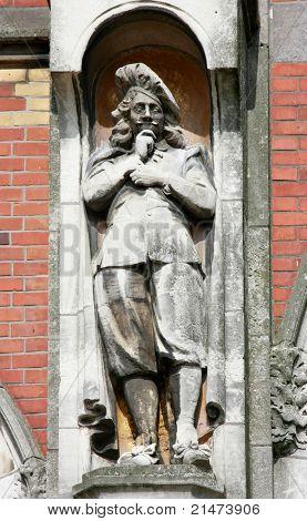 Rembrandt van Rijn - Sculpture in front of the Rijksmuseum (Amsterdam, Holland)
