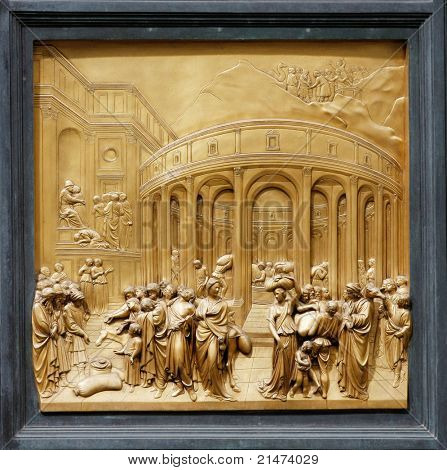 "Joseph by Ghiberti. Detail of the panel on the doors (""Gates of Paradise"") of the Duomo Baptistry, Florence, Italy."