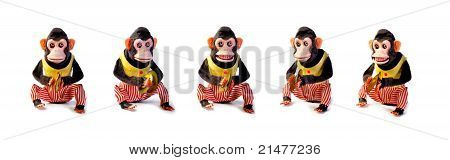 Collection Of Vintage Antique Monkeys
