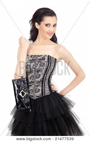 Portrait Of Woman In Elegant Dress