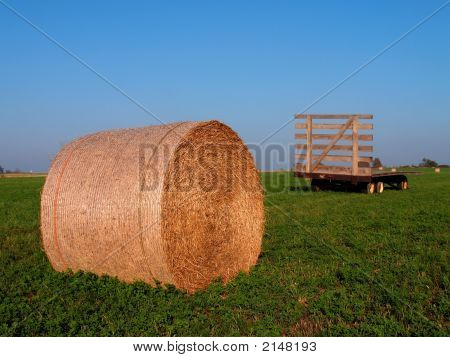 Hay And Flatbed Trailor