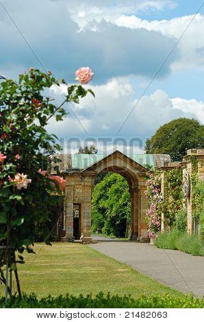 Castillo de arundel jardín formal Inglaterra