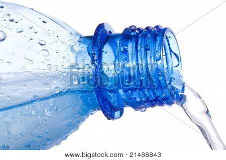 Water Is Pouring Down From Plastic Bottle