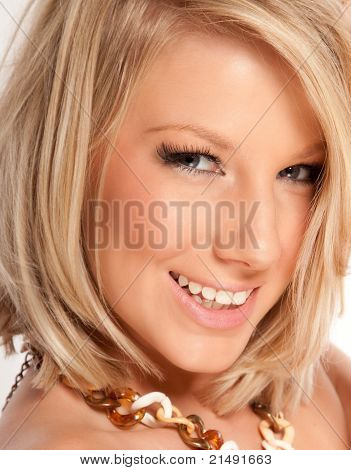 Studio Portrait Of A Beautiful Blonde Female