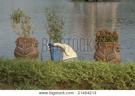 Beautiful Plant Cisterns