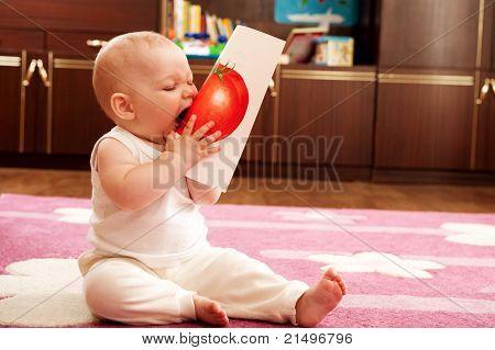 Baby Eat Tomato