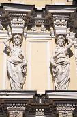 Caryatid On The Facade Of The Old Building. Fontanka Embankment. St. Petersburg, Russia poster