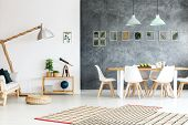 Modern Apartment With Framed Plants poster