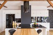 Modern Contrast Color Kitchen poster