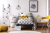 Contrast Color Kids Bedroom poster