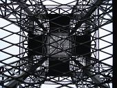 stock photo of bottomless  - Metal grids of model of Eiffel tower - JPG