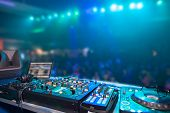 nightclub parties DJ. sound equipment poster