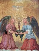 pic of tabernacle  - Angels on the door of the tabernacle - JPG