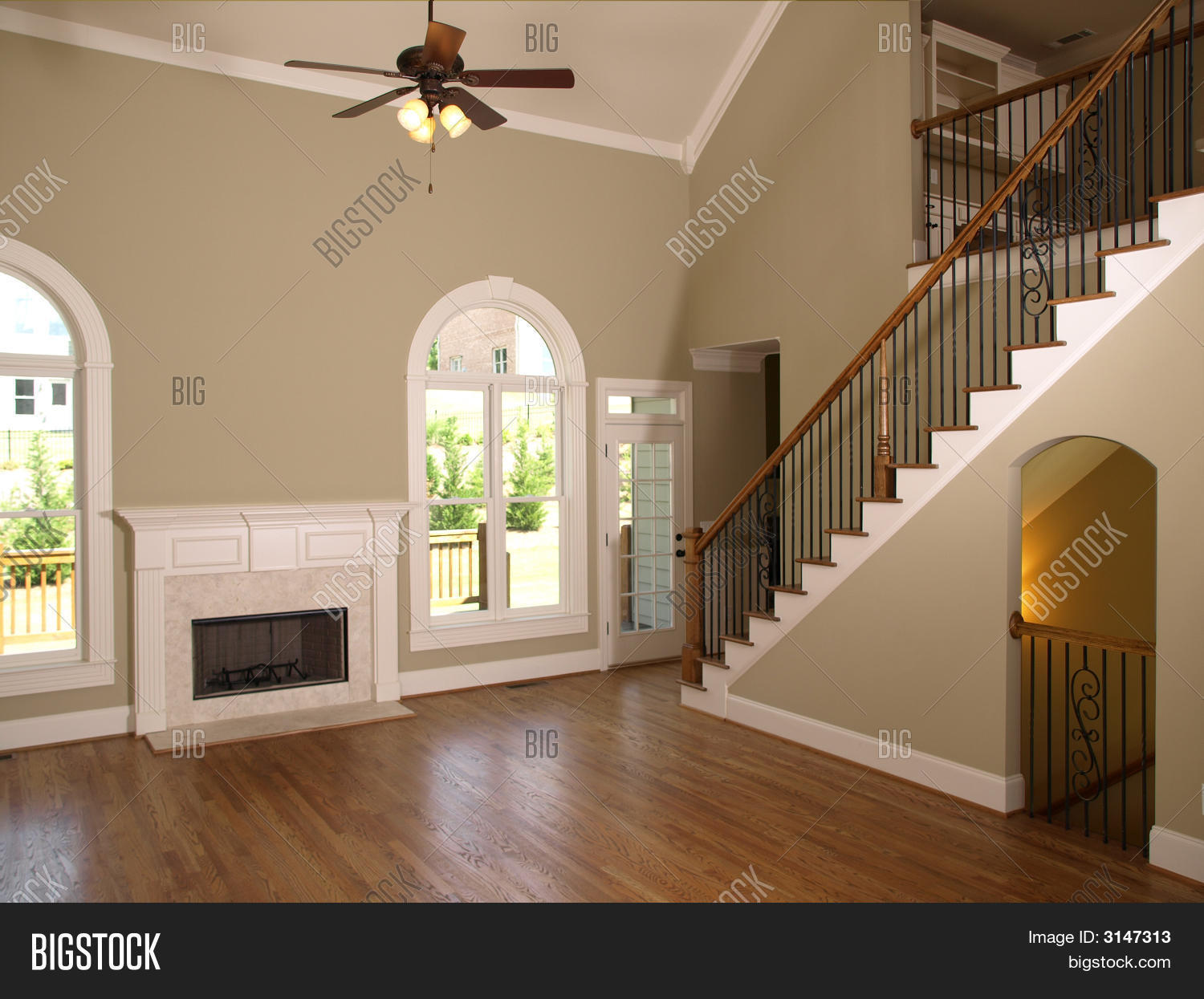 Luxury model home living room image photo bigstock for Model home living room