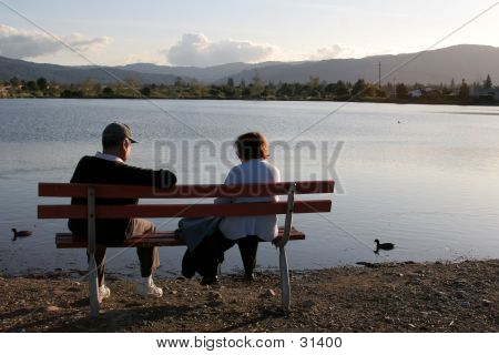 Older Couple Resting In The Park