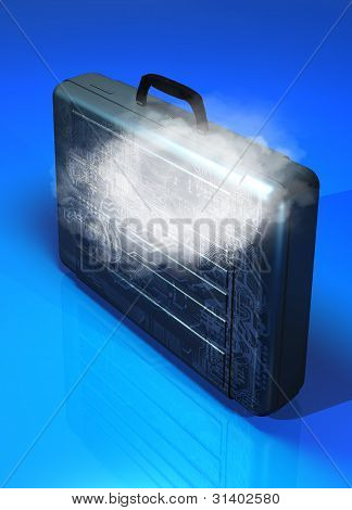 Briefcase And Cloud Computing