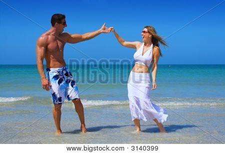 Happy Beach Couple