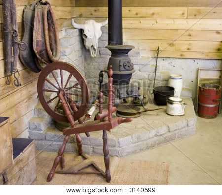 Old Spinning Wheel
