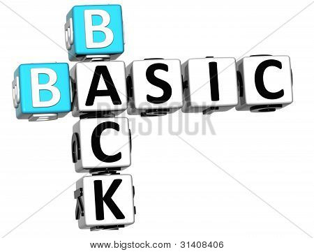 3D Back To Basic Crossword Text