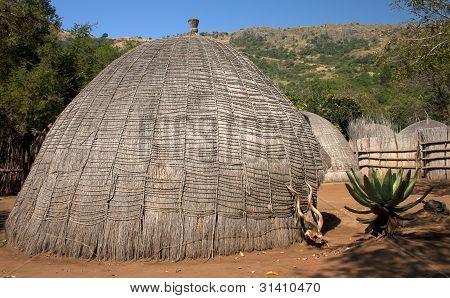African grass hut
