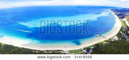 Moreton Insel Luftbild