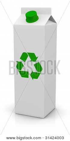 Package With Recycling Symbol