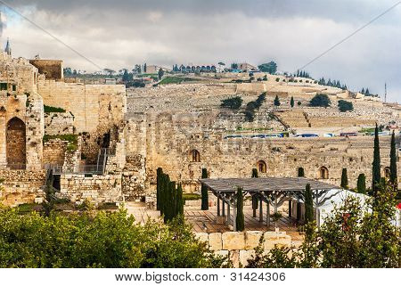 Mount Of Olives In The Jerusalem